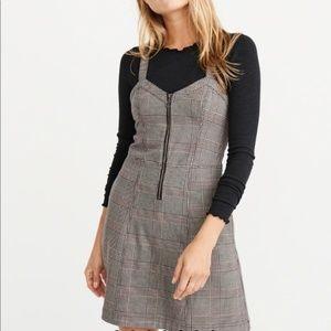 Abercrombie plaid zip up front dress